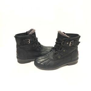 UGG Australia Cecile Winter Boots Black Size 5
